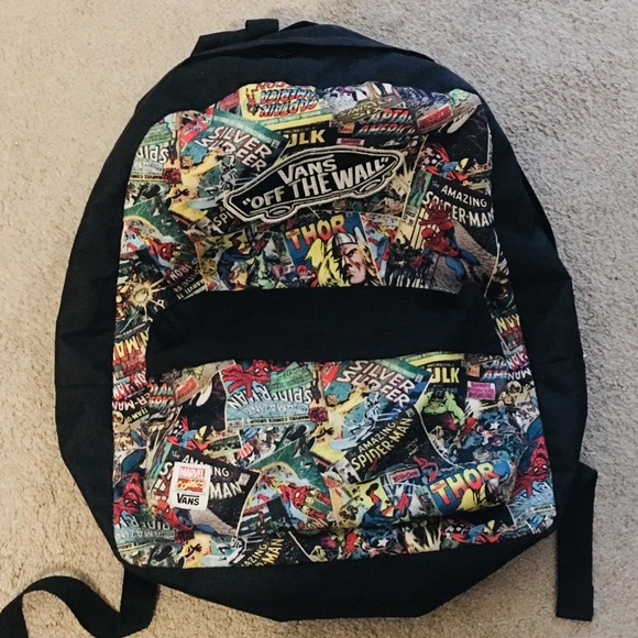 Vans off the wall marvel comic backpack Rare